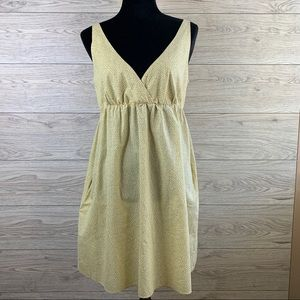Old Navy Sundress Yellow with Grey Dot Fabric.